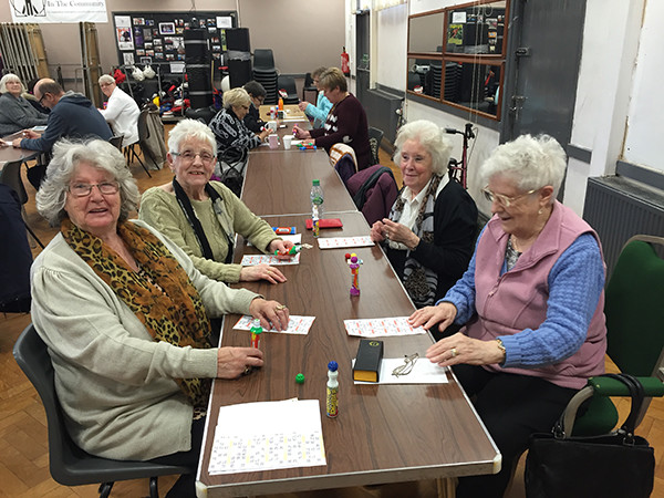 Pensioners bingo is very popular at Mosscroft Community Centre, which is now run by Community Interest Company Karma in the Community.