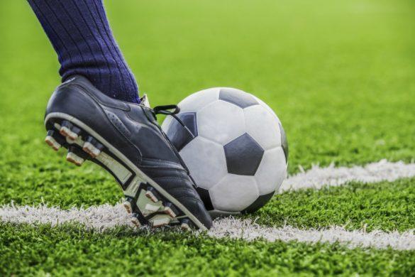Closeup football match