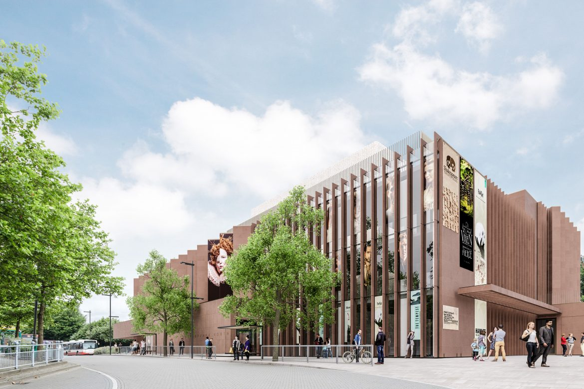 How the Shakespeare North Playhouse will look from the outside.