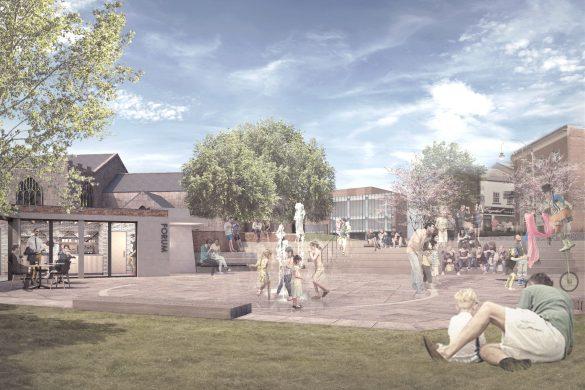Architect Mark Wray's chosen design for Prescot Market Place