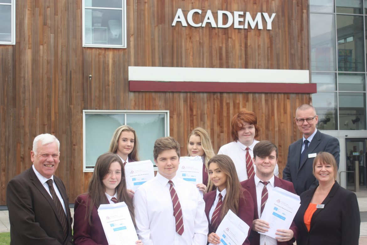 Lord Derby Academy students are celebrating their GCSE successes