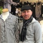 Kenny Rowe on his Dress Sense stall at Kirkby Market