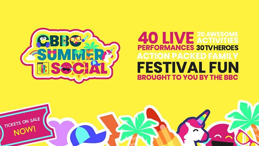 Cbeebies summer social poster