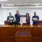 Knowsley Council and UNISON members with the Ethical Care Charter