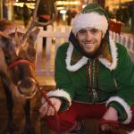 Real reindeer at Festive Foodie Friday, Huyton Village