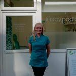 Serine Cahill of Kirkby Podiatry, on Kirkby Market