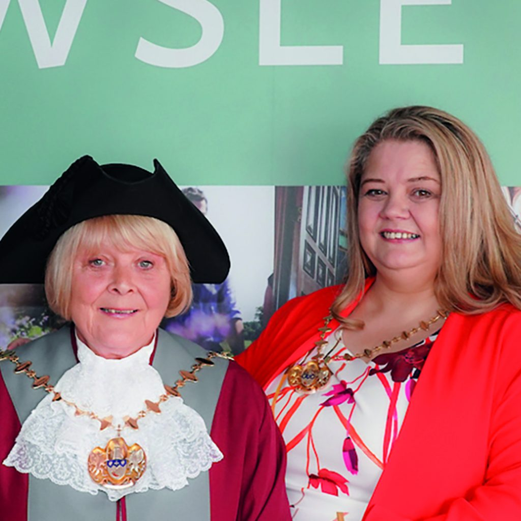 Mayor of Knowsley for 2019/20, Cllr Jackie Harris with Mayoress Marie Roughley