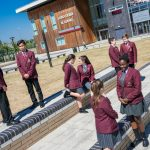 Pupils at Lord Derby Academy in Huyton