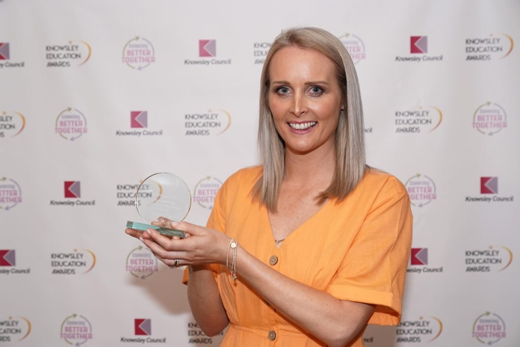 Emma Hart - winner of the Diversity Inclusion Award at the Knowsley Education Awards 2019