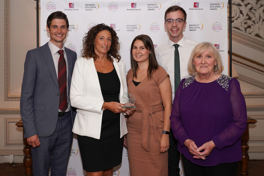 Halewood C of E Primary - winners of the Curriculum Innovation Award at the Knowsley Education Awards 2019