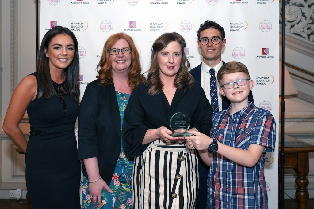 Knowsley Lane Primary School - joint winners of School of the Year at the Knowsley Education Awards 2019