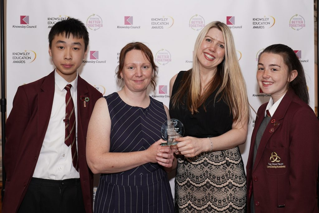 Lord Derby Academy's Inclusion Team - Joint winners of Team of the Year at the Knowsley Education Awards 2019