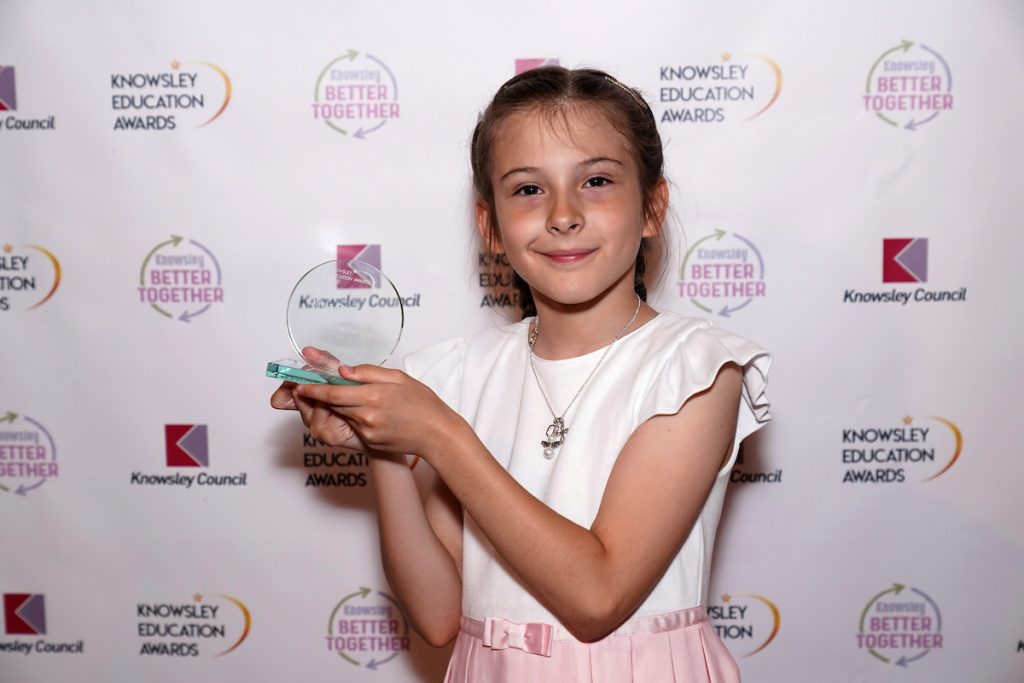 Olivia Melbourne winner of Scientist of the Year at the Knowsley Education Awards 2019