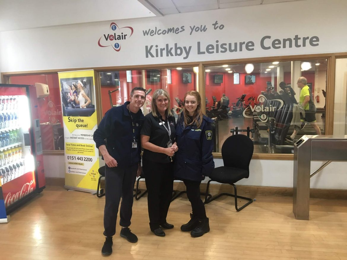 Knowsley Street Intervention Team in Kirkby Leisure Centre