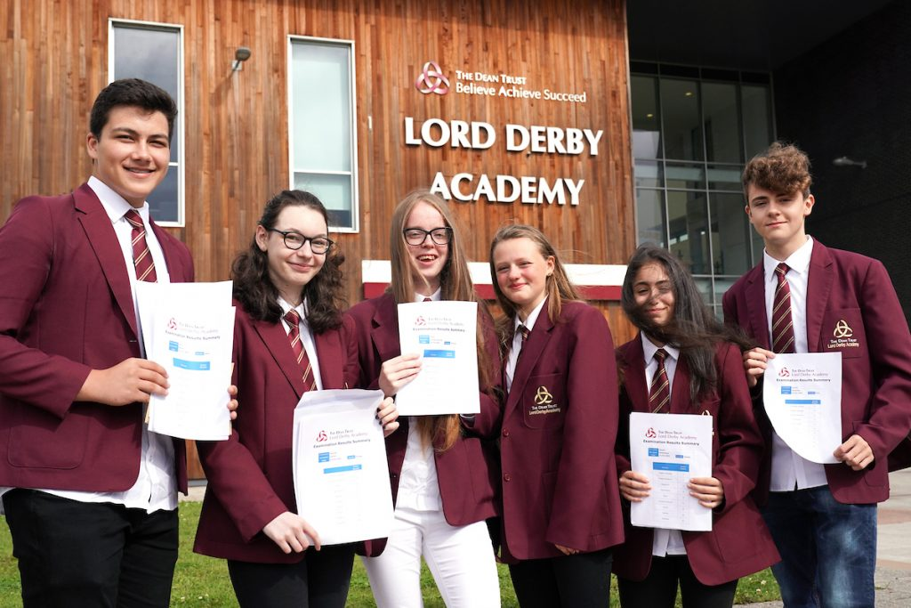 Lord Derby Academy students collect GCSE results