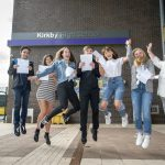 Kirkby High pupils celebrate as they pick up their GCSE results