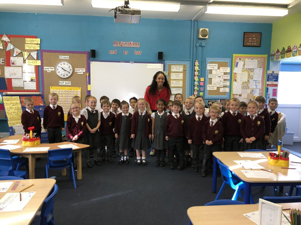 Katarina Thompson-Johnson at St Mark's Primary School