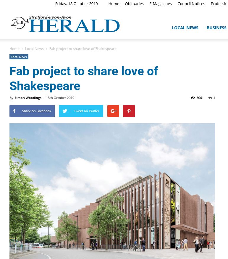 Stratford-upon-Avon Herald article