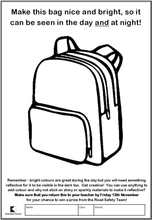 Blank image of backpack