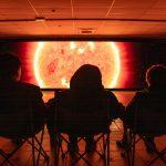 Visitors enjoy The Garish Sun exhibition in Huyton Village