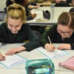 Pupils taking part in the InnovateHer project