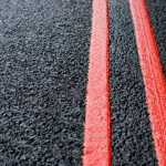 double red lines on a red route