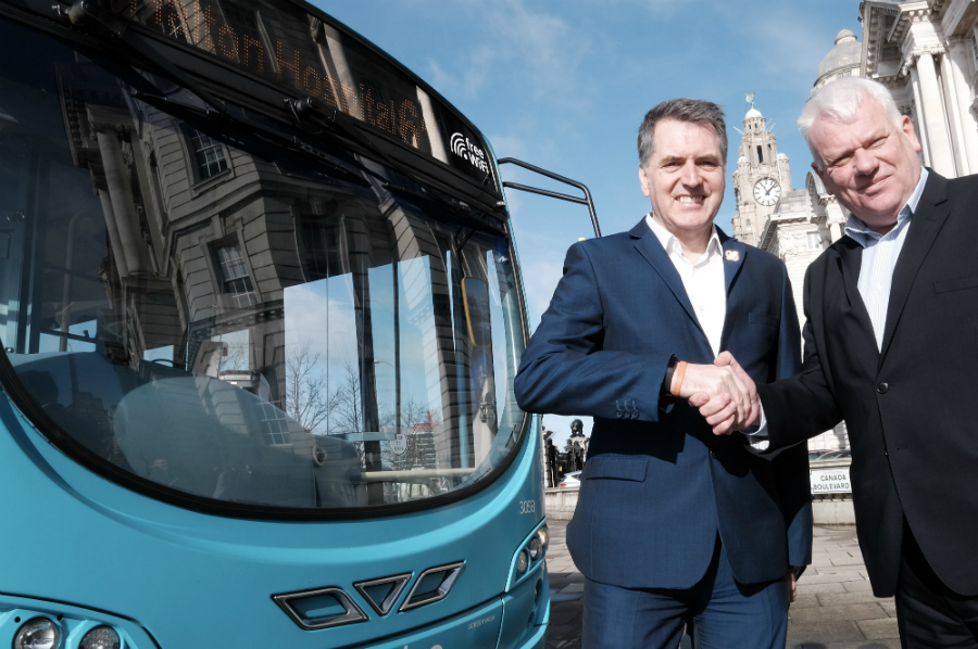 Metro Mayor Steve Rotheram and Leader of Knowsley Council Cllr Graham Morgan