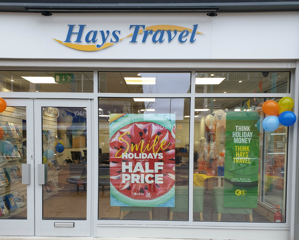 New Hays Travel shop in Huyton