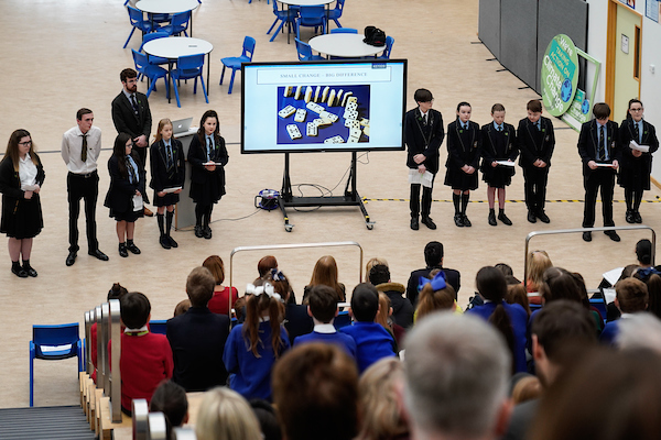 The Eco-Council at All Saints School present to the Schools Climate Change Summit