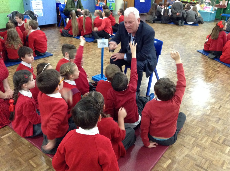 Evelyn Primary School Aspirations Dayy, Cllr Graham Morgan