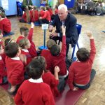 Evelyn Primary School Aspirations Dayy, Cllr Graham Morgan