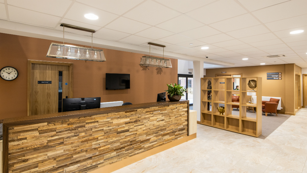Inside The Maples Extra Care facility in Kirkby