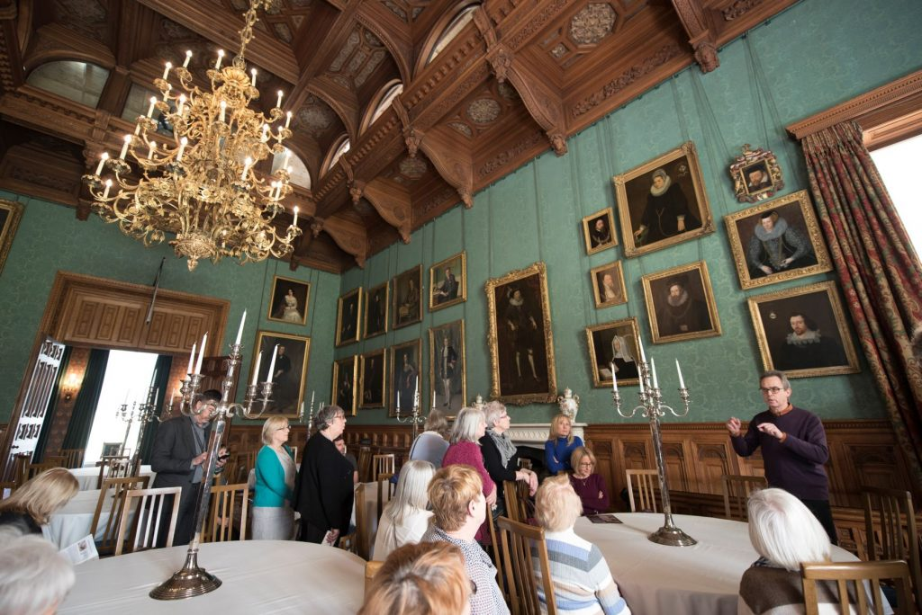 Curators at Knowsley Hall Dining Room