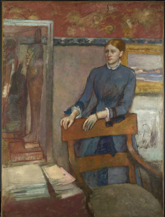 Hilaire-Germain-Edgar Degas Hélène Rouart in her Father's Study 1886 © The National Gallery, London