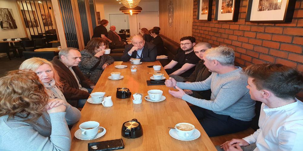 Task Force visit Huyton Village Centre