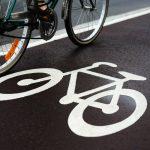 Bike on a cycle lane