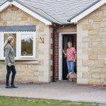 social distancing on the doorstep
