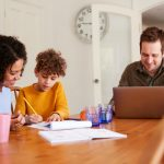 Home schooling family