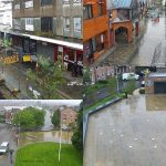 A montage of CCTV footage showing Prescot, Merseyside