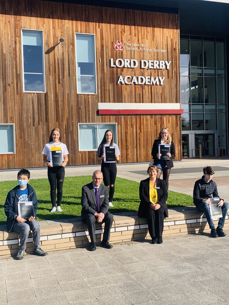 Lord Derby Academy students collect their GCSE results