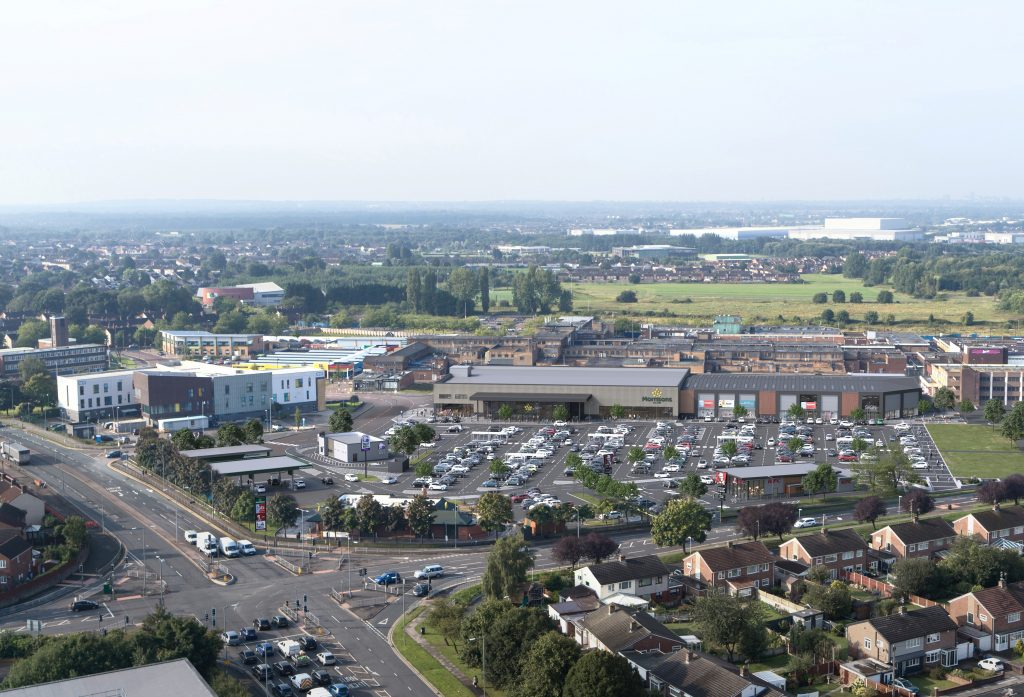Aerial view shows how Kirkby town centre will look after the redevelopment