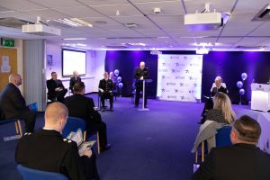 Merseyside Police Chief Constanble, Andy Cook presents the awards
