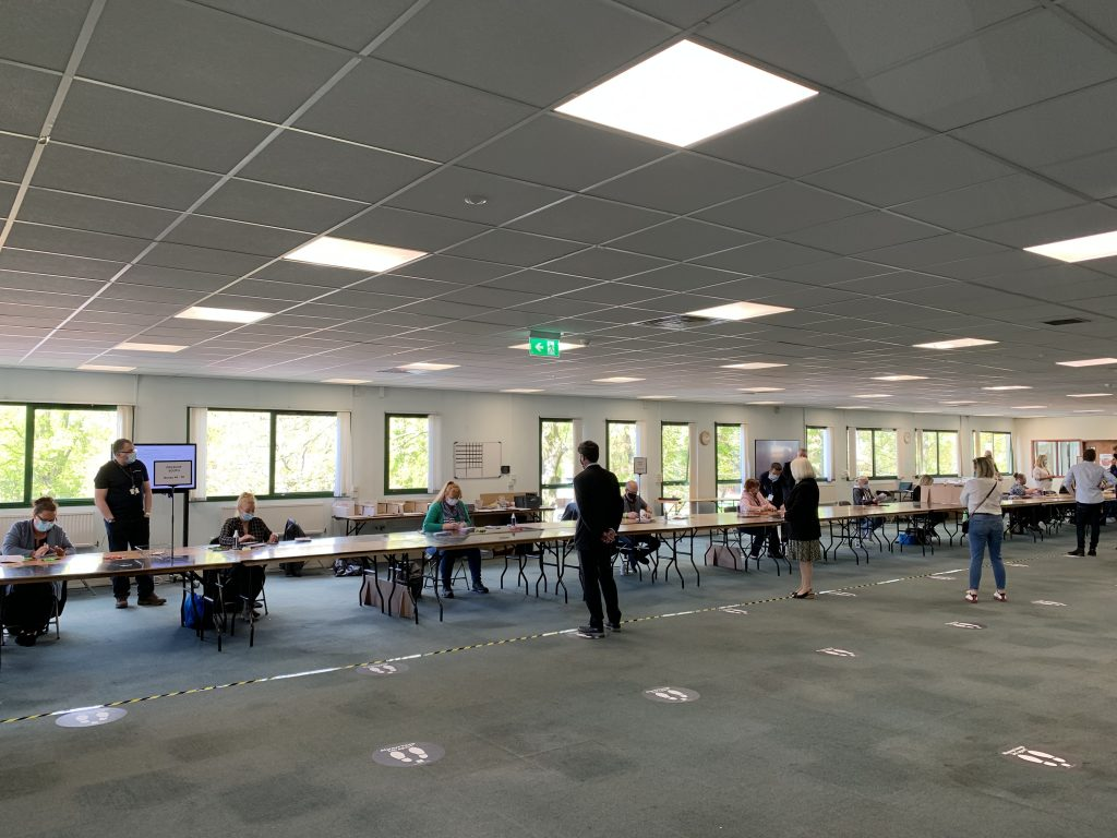 Election count at Knowsley