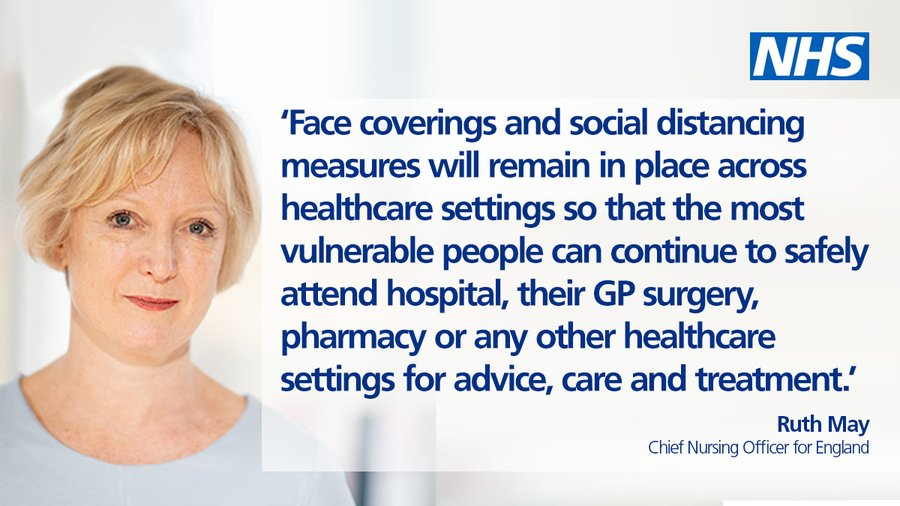 NHS Patients, Staff and Visitors Must Continue To Wear Face Coverings in Healthcare  Settings - Knowsley News