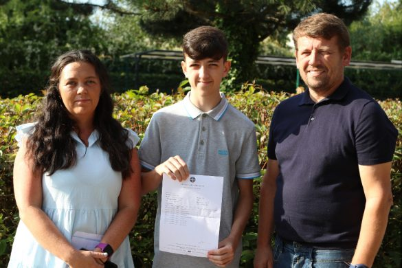 All Saints Catholic High School [upils collect their GCSE results