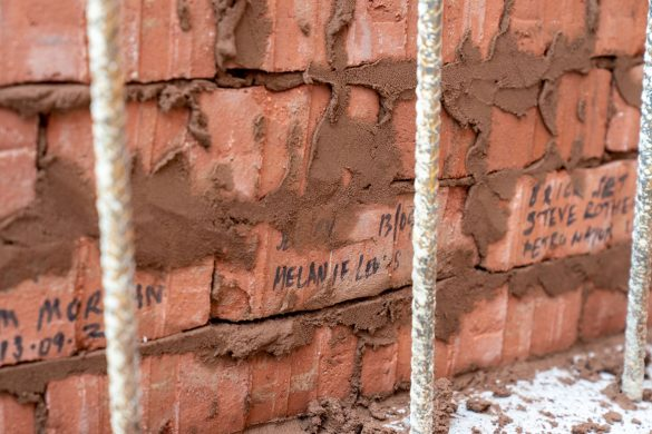 Bricks at The Shakespeare North Playhouse site