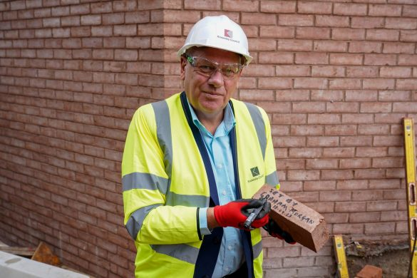 Cllr Graham Morgan at The Shakespeare North Playhouse site