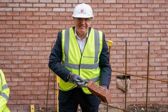 Metro Mayor Steve Rotheram at The Shakespeare North Playhouse site 3